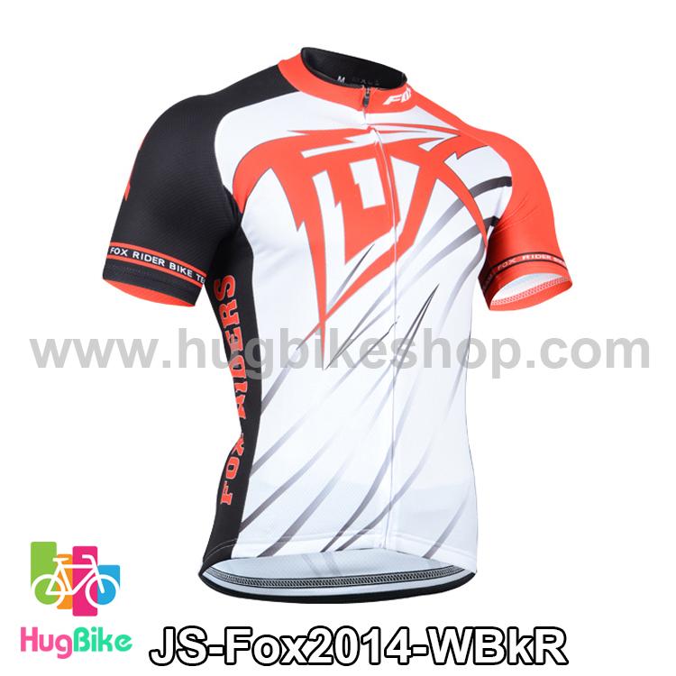 เสื้อจักรยานแขนสั้นทีม Fox 2014 สีขาวดำแดง สั่งจอง (Pre-order)