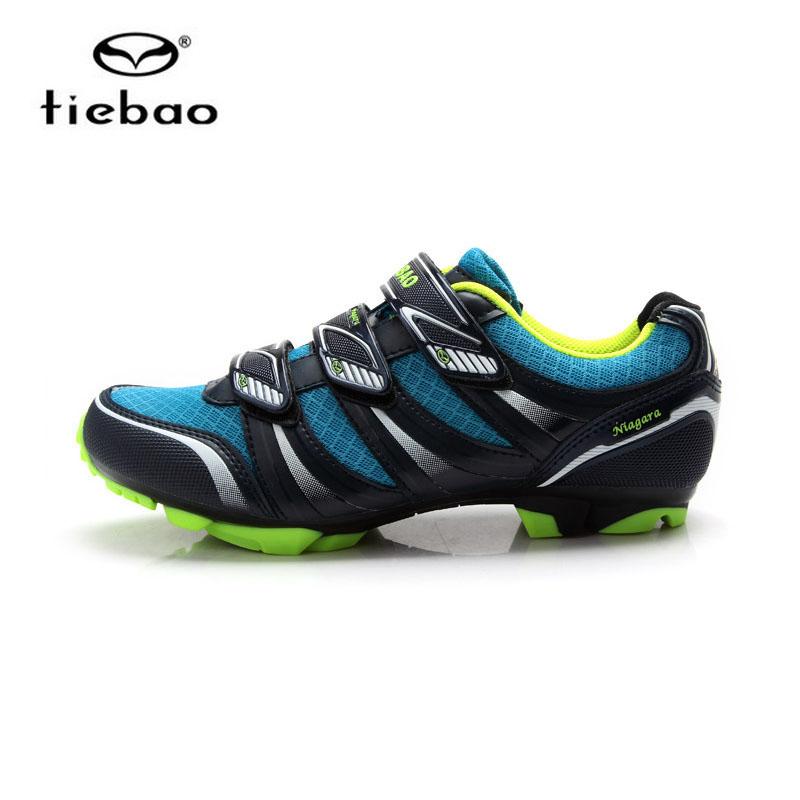 รองเท้าจักรยานเสือภูเขา TIEBAO รุ่น TB35-B1428 สีฟ้าดำเขียว