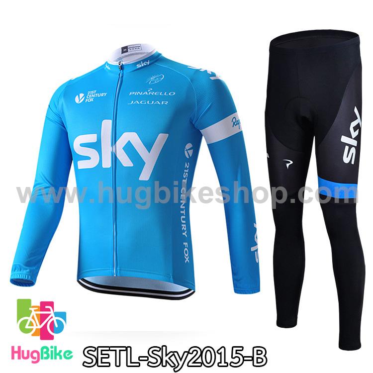 ชุดจักรยานแขนยาวทีม Sky 15 สีฟ้า สั่งจอง (Pre-order)