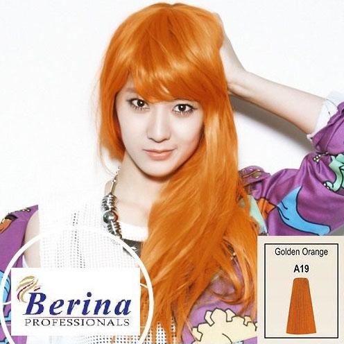 เบอริน่า ครีมย้อมผม A19 สีส้มทอง Golden Orange 60 g.
