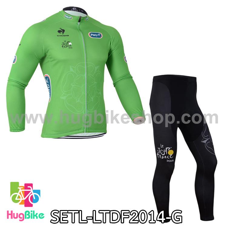 ชุดจักรยานแขนยาว Le tour de france 14 สีเขียว สั่งจอง (Pre-order)