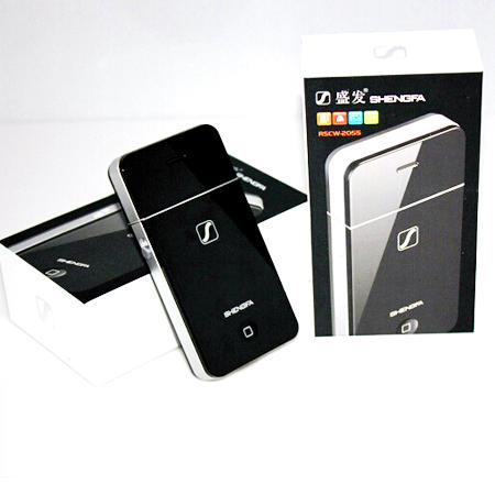 เครื่องโกนหนวดไฟฟ้า แบบพกพา Shengfa RSCW-2055 ทรง I-Phone เล็กกระทัดรัด พกพาสะดวก แบบชาร์จไฟบ้าน (สีดำ)