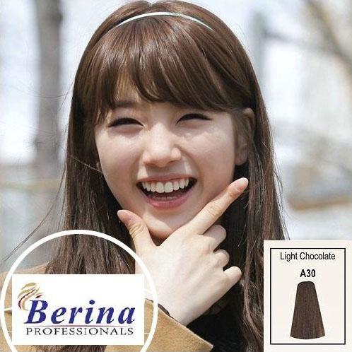 เบอริน่า ครีมย้อมผม A30 สีช็อกโกเล็ตอ่อน Light Chocolate 60 g.