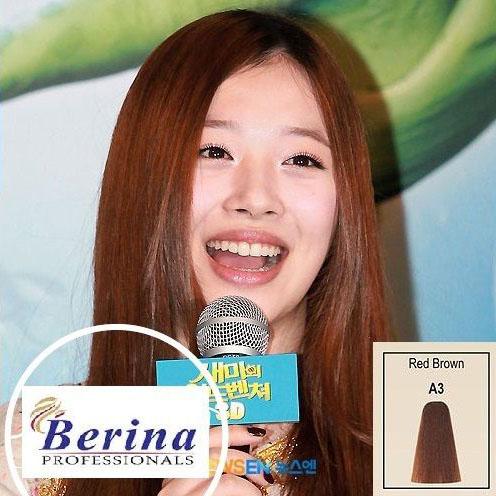 เบอริน่า ครีมย้อมผม A3 สีน้ำตาลแดง Red Brown 60 g.