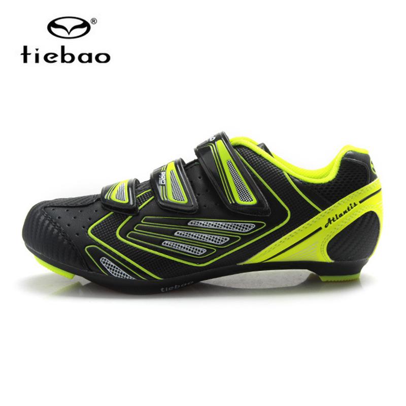 รองเท้าจักรยานเสือหมอบ TIEBAO รุ่น TB36-B1521 สีดำเขียว