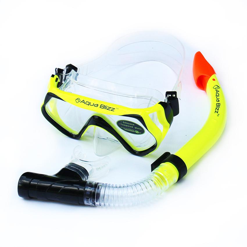 หน้ากากดำน้ำ สำหรับผู้ใหญ่ ซิลิโคนอย่างดี ไม่มีกลิ่นเหม็น สีเหลือง