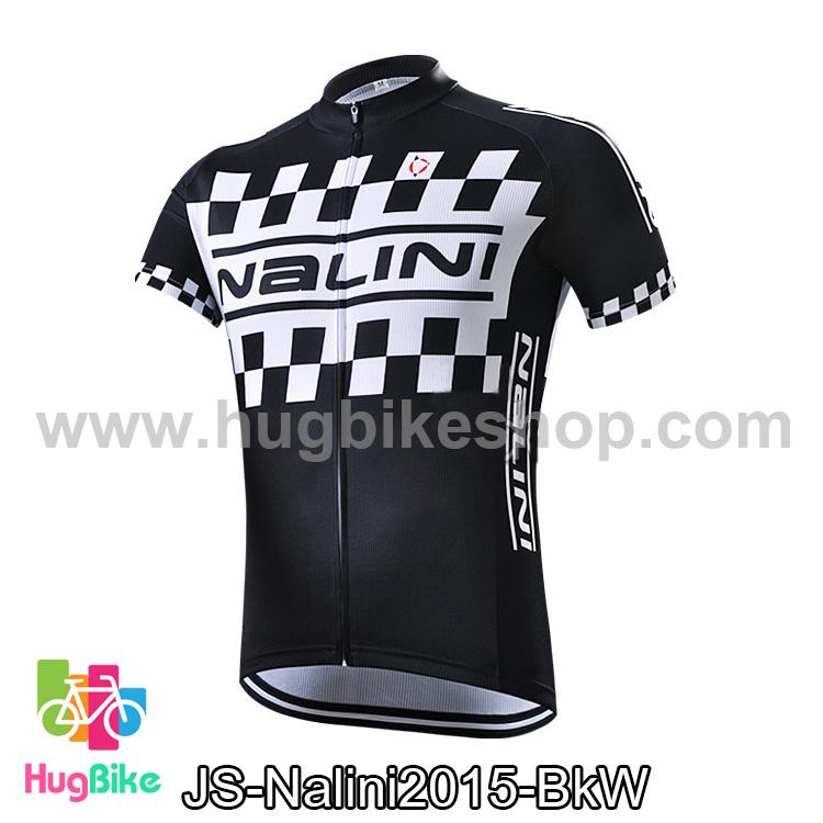 เสื้อจักรยานแขนสั้นทีม Nalini 2015 ดำขาว สั่งจอง (Pre-order)