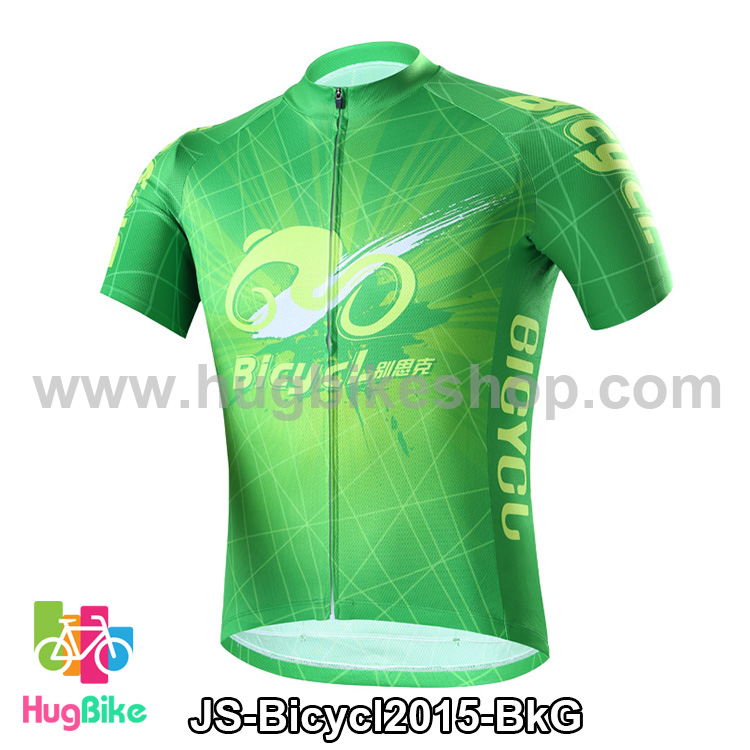 เสื้อจักรยานแขนสั้นทีม Bicycl 2015 สีเขียว สั่งจอง (Pre-order)