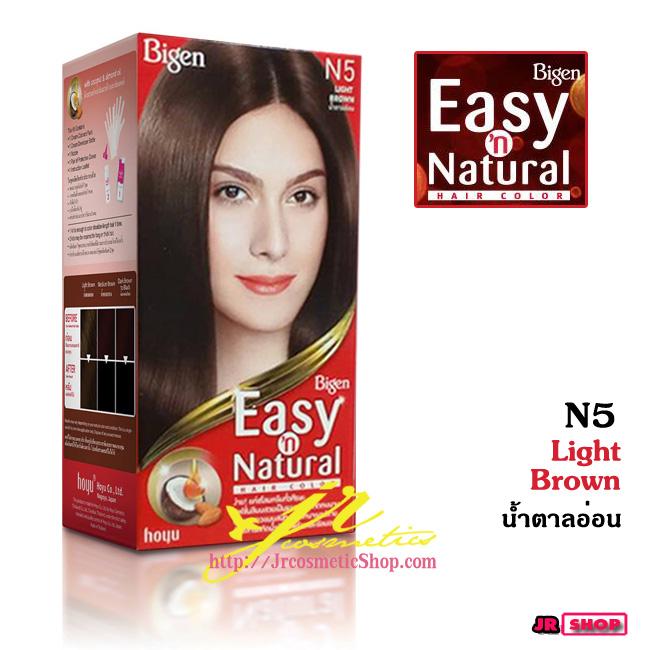 ฺBigen Easy 'n Natural ฺHair Color N5 Light Brown น้ำตาลอ่อน