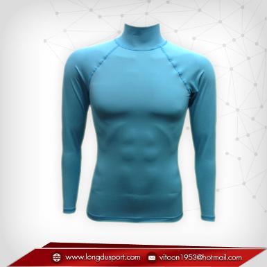 Body Fit / Base Layer เสื้อรัดรูป คอตั้ง แขนยาว สีฟ้า skyblue