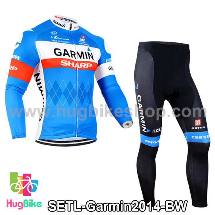 ชุดจักรยานแขนยาวทีม Garmin 14 สีน้ำเงินขาว สั่งจอง (Pre-order)