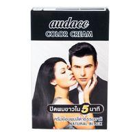 ออด๊าซ คัลเลอร์ ครีม สีดำธรรมชาติ audace Color Cream ปิดผมขาวใน 5 นาที (13 กรัม x13มล.)