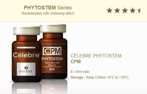 PHYTOSTEM CPM Celebre Plant Stem Cell Extracts 1200MG (Whitening) 5ml Vegetal - Anti-aging benefits, Skin Brightness and Elasticity