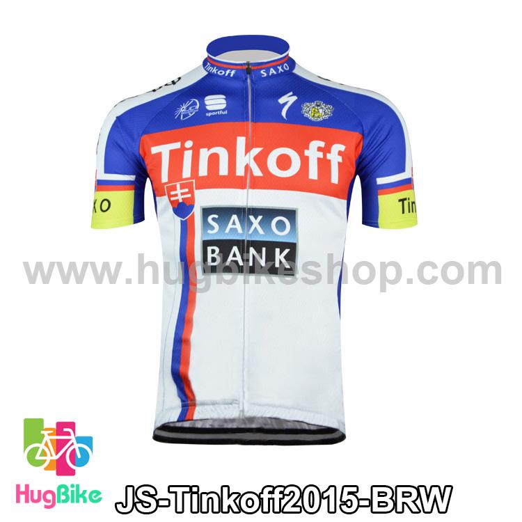 เสื้อจักรยานแขนสั้นทีม Tinkoff SAXO 15 สีน้ำเงินแดงขาว สั่งจอง (Pre-order)