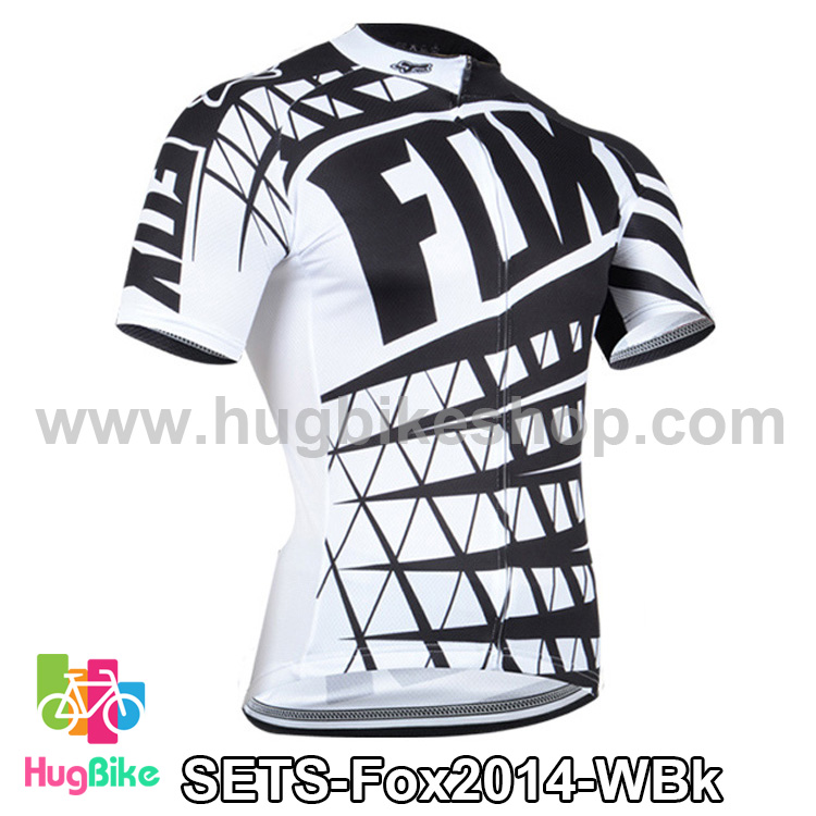 เสื้อจักรยานแขนสั้นทีม Fox 2014 สีขาวดำ สั่งจอง (Pre-order)