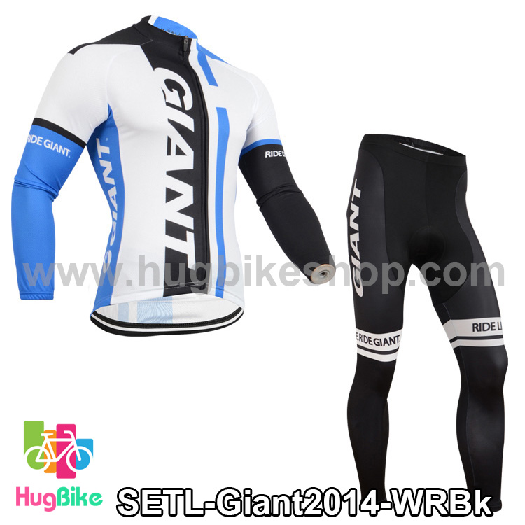 ชุดจักรยานแขนยาวทีม Giant 14 สีขาวน้ำเงิน สั่งจอง (Pre-order)