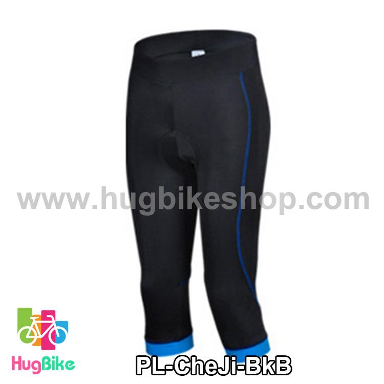 กางเกงจักรยานขาสามส่วน CheJi สีดำน้ำเงิน สั่งจอง (Pre-order)