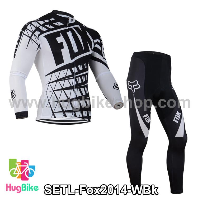 ชุดจักรยานแขนยาวทีม Fox 14 สีขาวดำ สั่งจอง (Pre-order)