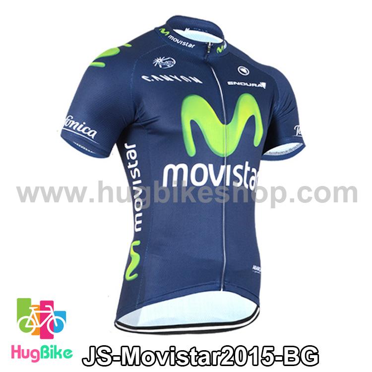 เสื้อจักรยานแขนสั้นทีม Movistar 2015 สีน้ำเงินเขียว สั่งจอง (Pre-order)