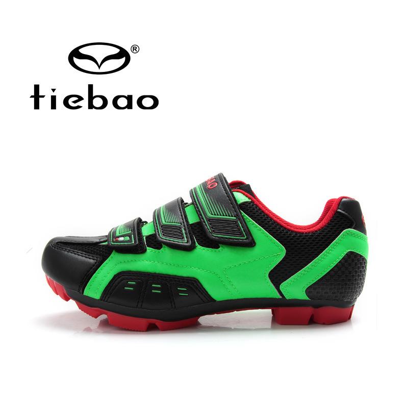 รองเท้าจักรยานเสือภูเขา TIEBAO รุ่น TB15-B943 สีเขียวดำแดง