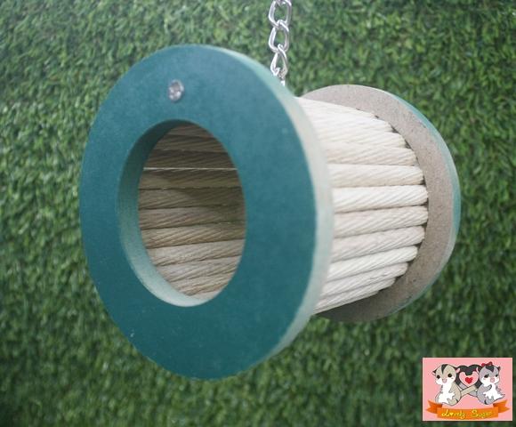 ท่อไม้ของเล่นชูก้าร์ แขวน สีเชียว