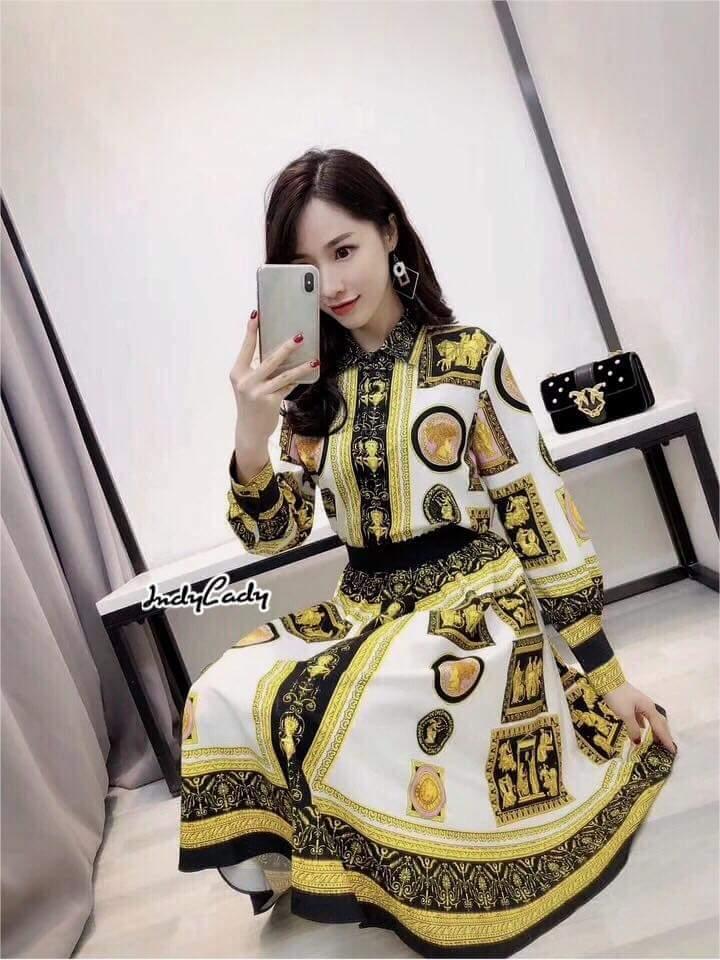 Set เสื้อ+กระโปรง Brand Versace