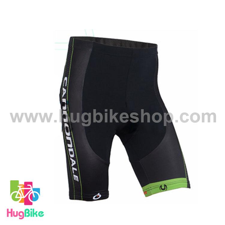 กางเกงจักรยานขาสั้นทีม Cannondale 16 (01) เขียวดำ