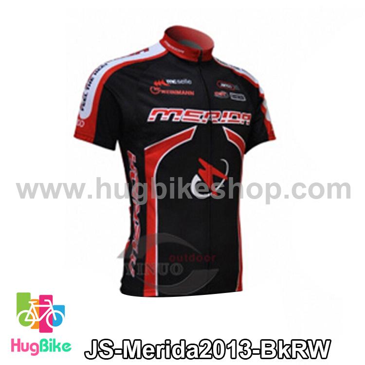 เสื้อจักรยานแขนสั้นทีม Merida 2013 สีดำแดงขาว สั่งจอง (Pre-order)