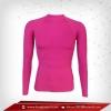 เสื้อรัดรูป Bodyfit แขนยาวตอกลม สีชมพู deeppink