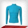 Bodyfit / Baselayer เสื้อรัดรูป คอตั้งแขนยาว สีฟ้า mediumturquoise