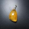 จี้แก้วไหมทอง เส้นสวย แก้วน้ำงาม ขนาด2.5x 1.7mm