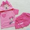 Disney : set เสื้อ+กระโปรงกางเกง ลายมินนี่ สีชมพู Size : M ( 4-5y ) / L (6-7y)