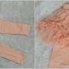 กางเกงเลกกิ้ง มีระบาย สีชมพู size 100