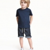 H&M : กางเกงยีนส์ขาสั้น ผ้านิ่ม ไม่หนา เอวยืด ผูกเชือกได้ค่ะ (งานช้อป) size : 1.5-2y