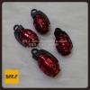 จุกลม ลูกระเบิด น้อยหน่า สีแดง : Car tire valve Stem caps - Grenade Bomb