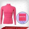เสื้อรัดกล้ามเนื้อ รุ่นQuick Dry มีรูระบายอากาศ สีชมพู hotpink