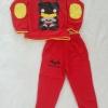 Set เสื้อแขนยาว + กางเกงขายาว สกรีนลาย Batman สีแดง Size : 2y / 5y