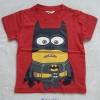 H&M : เสื้อยืด สกรีนลาย Minion Batman สีแดง Size :10-12y