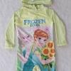 ชุดว่ายน้ำ บอดี้สูทแขนยาว พร้อม หมวก ลาย Frozen Fever สีเขียวมะนาว size : 12 ( 7-8y)