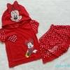 Disney : set เสื้อ+กระโปรงกางเกง ลายมินนี่ สีแดง Size : M ( 4-5y ) / L (6-7y)