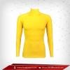 เสื้อรัดกล้ามเนื้อ แขนยาวคอตั้ง สีเหลือง