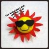 Vj1474 ลูกบอลเสียบเสาอากาศ ลายพระอาทิตย์: Antenna topper