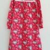 Hello Kitty : ชุดนอนแขนยาว ผ้าสำลี พิมพ์ลาย คิตตี้ สีแดง size : 6y / 7-8y