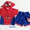 MARVEL : set เสื้อ + กางเกง spider man มีไฟกระพริบ size XL