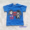 H&M : เสื้อยืด สกรีนลาย Batman&Superman สีน้ำเงิน size : 4-6y / 6-8y