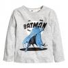 H&M : เสื้อแขนยาว สกรีนลาย แบทแมน สีเทา size : 6-8y