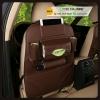 กระเป๋าใส่ของหลังเบาะรถยนต์ ที่เก็บของหลังเบาะรถยนต์ (สีน้ำตาล) หนังเทียม PU