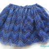 H&M : กระโปรงชีฟอง สีน้ำเงิน สลับดำซิกแซก Size : 2-3y / 3-4y / 5-6y / 6-7y / 7-8y