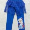 H&M : กางเกงเลกกิ้ง มีระบาย สกรีน ลาย เอลซ่า สีน้ำเงิน size 2-4y