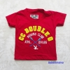 CCOO : เสื้อยืดแขนสั้น ปัก CC สีแดง size : S ( 1-2y) / M ( 2-4y) / XL ( 8-10y) / XXL (10-12y)